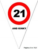 "Puntvlagjes ""21 and kinky"""