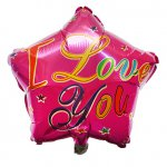"Metallic folie ballon ""I love you"""