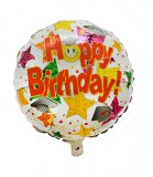 "Metallic folie ballon ""Happy Birthday"""