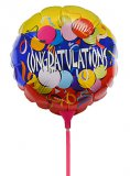 "Metallic folie ballon ""Congratulations"""